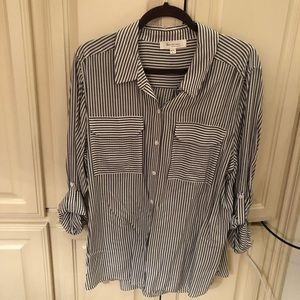 Two by Vince Camuto Striped Button Down Shirt
